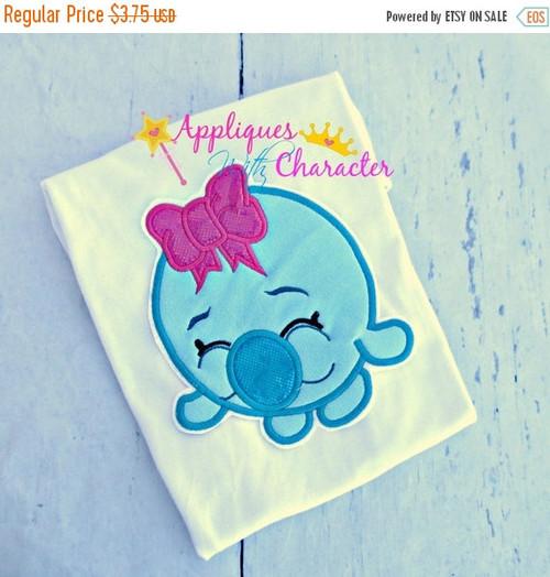 Shopkins Gum Ball Bubble Applique Design Embroidery Machine Design