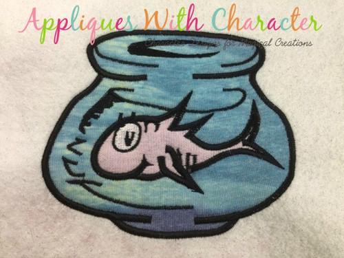 Fish In Bowl Embroidery Machine Design