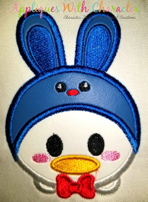Don Duck Easter Bunny Tsum Tsum Applique Design