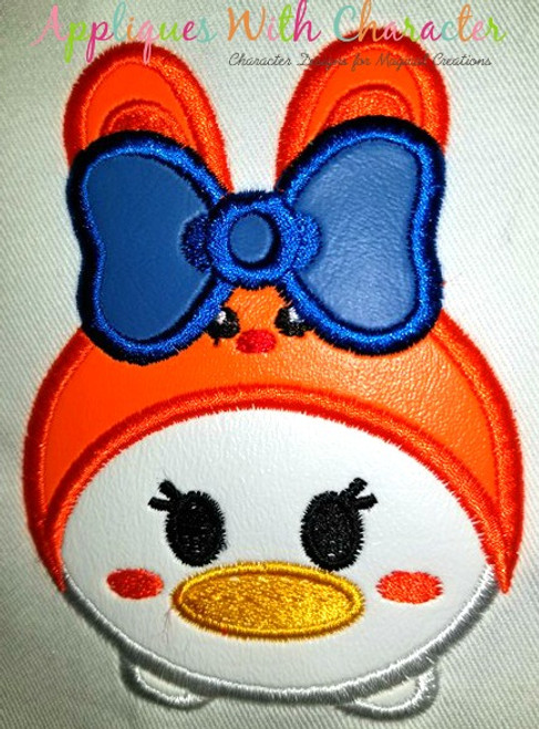 Daizy Duck Easter Bunny Tsum Tsum Applique Design