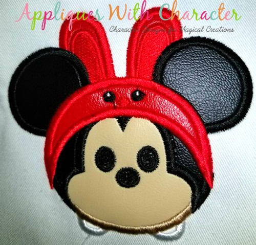 Mr Mouse Easter Bunny Tsum Tsum Applique Design