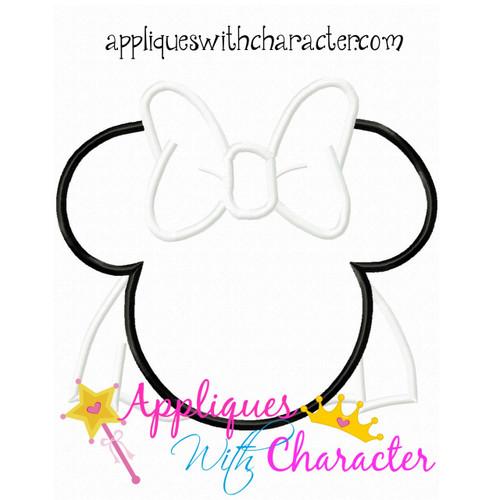 MRS Mouse Bride Applique Design