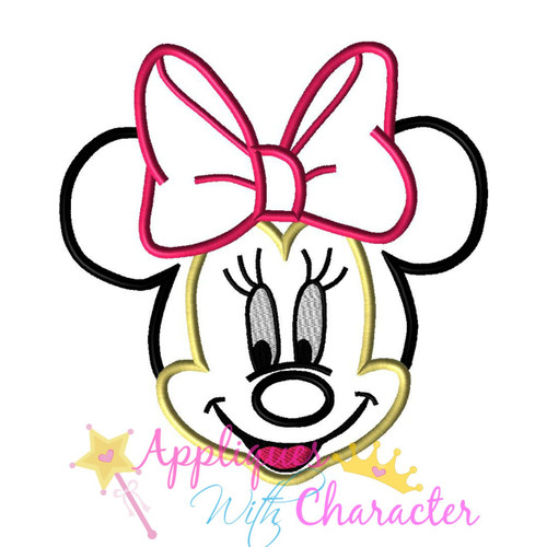 Minny Face Applique Design