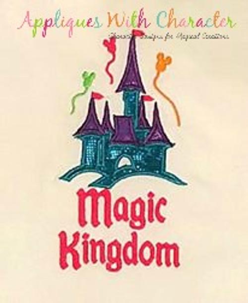 Magic Kingdom Castle Applique Design