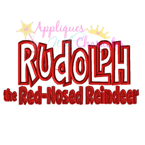 Rudy Logo Applique Design