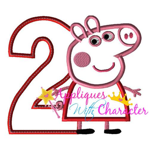 Pepper Pig TWO Applique Design