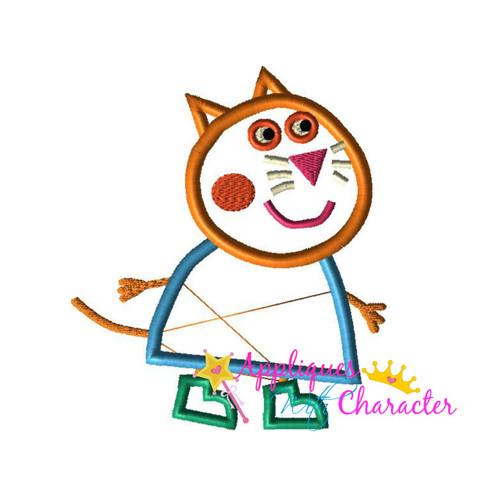 Pepper Pig Candie Cat Applique Design