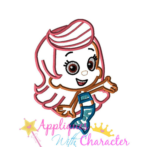 Bubble Girl Applique Design
