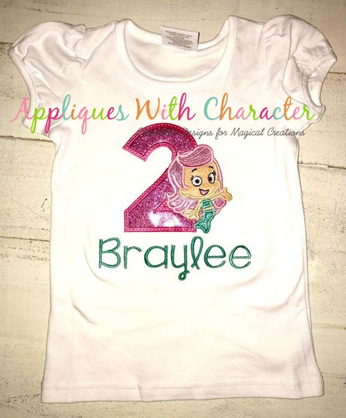 Bubble Guppies Molly TWO Applique Design