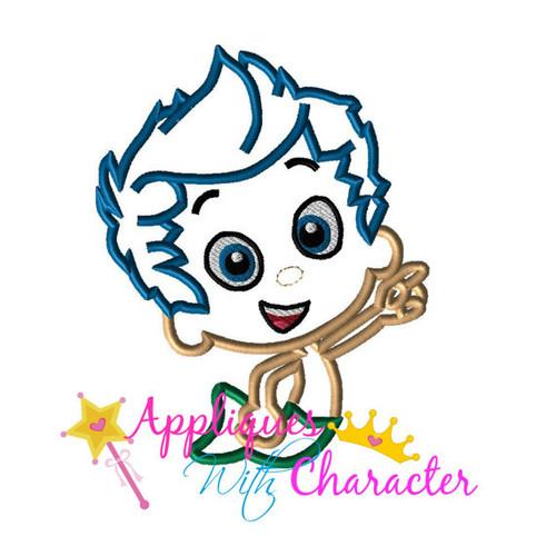 Bubble Boy Applique Design