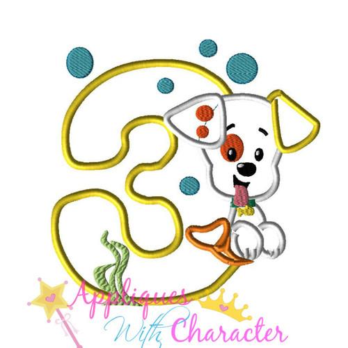 Bubble Puppy THREE Applique Design