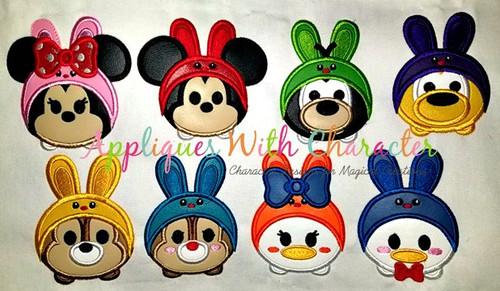 Easter Bunny Tsum Tsum Applique Design SET