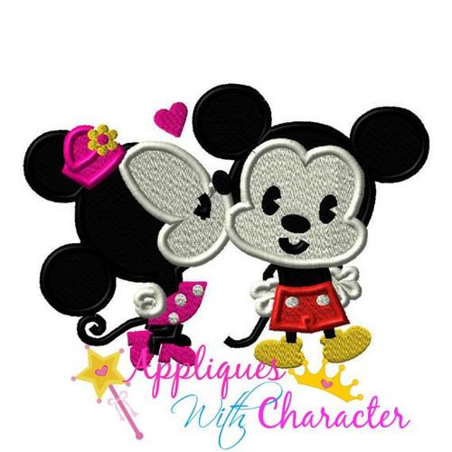 Kissing Miss Mouse Applique Design