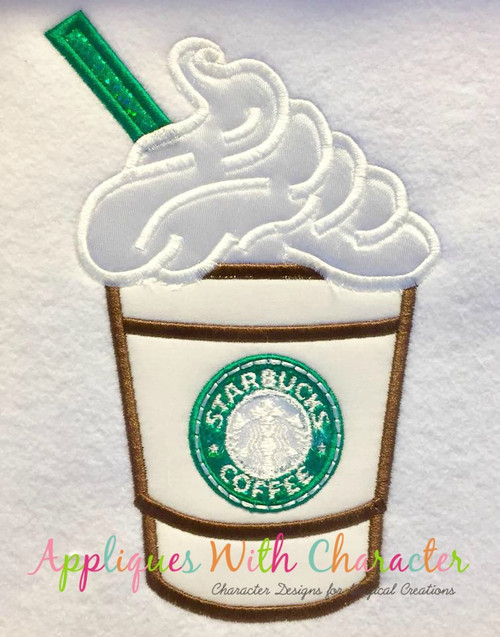 Coffee Drink Applique Design