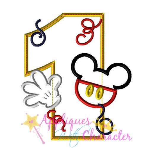 Mr Mouse One Applique Design