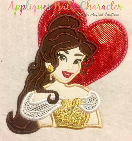 Beauty Bella Heart Applique Design