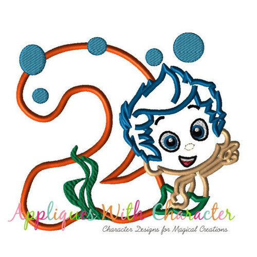 Bubble Guppies TWO Gilly Applique Design