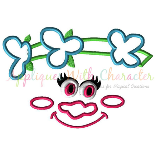 Troll Pop Face Applique Design