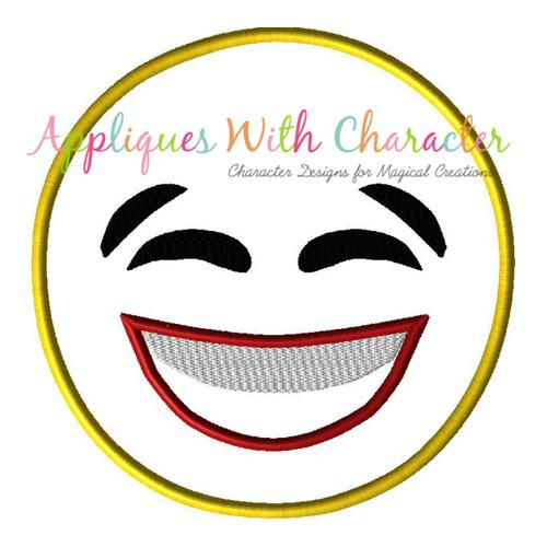 Laughing Emoji No Tears Applique Design