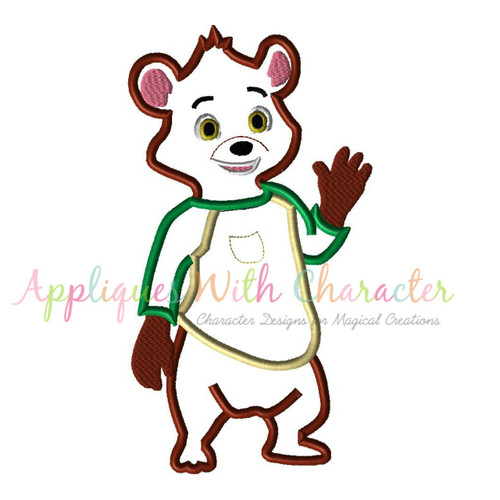 Goldie and Bear Applique Design