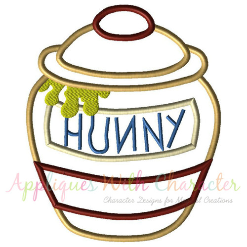 Honey Bear Pot Applique Design
