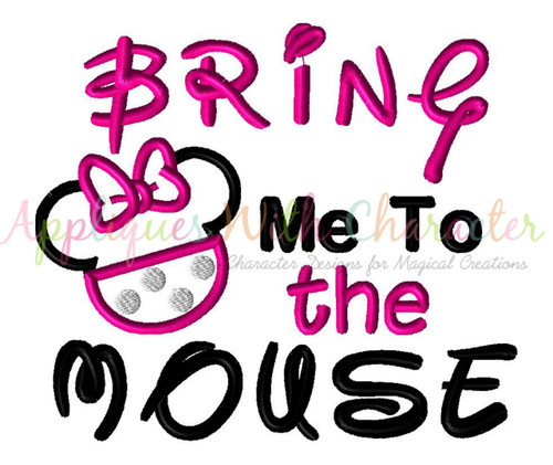 Bring Me To The Mouse Minny Applique Embroidery Design