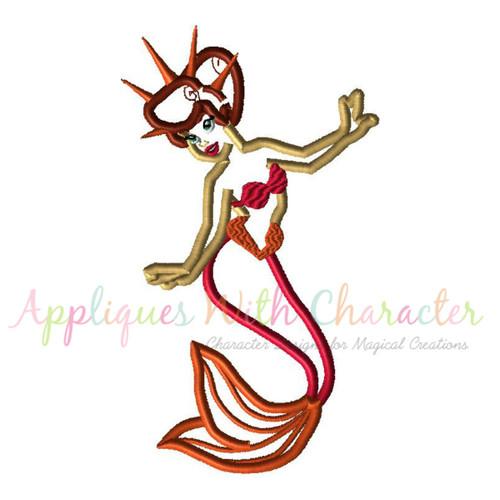 Mermaid Sister Applique Design
