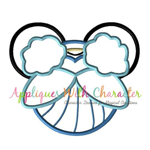 Cindy Mr Mouse Head Applique Design