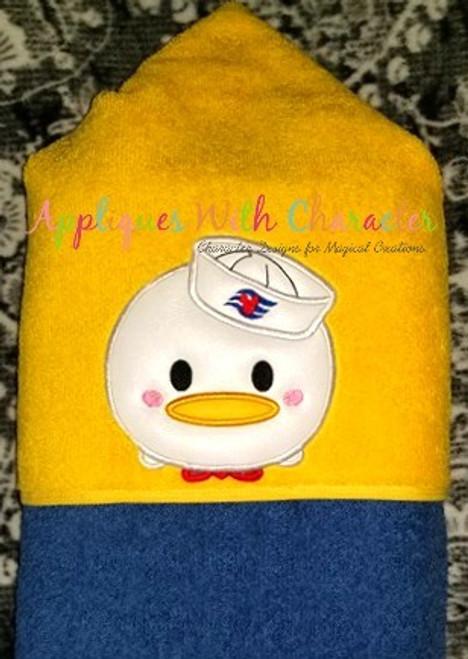 Don Duck Cruise Tsum Tsum Applique Design