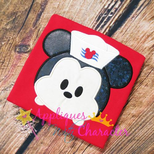 Mickey Sailor Cruise Tsum Tsum Applique Design