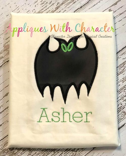 Halloween Bat Applique Design