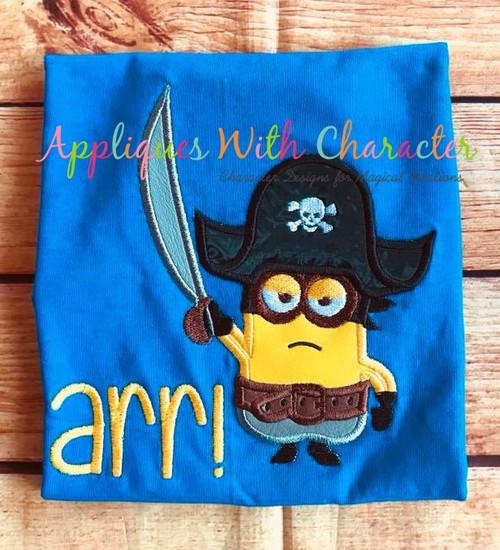 Minione Pirate Applique Design