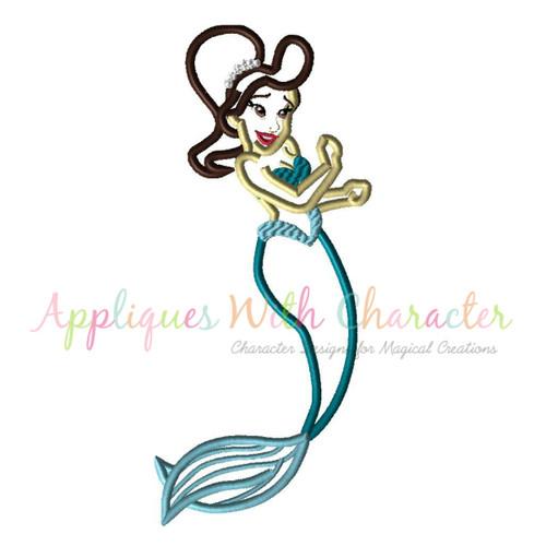 Mermaid Sister 3 Applique Design