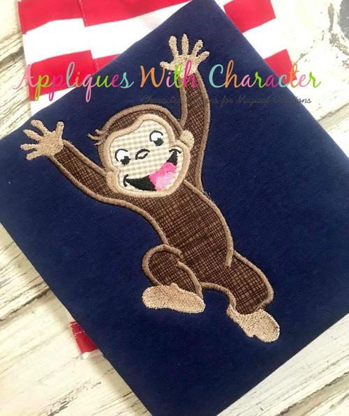 Curious Monkey Applique Design