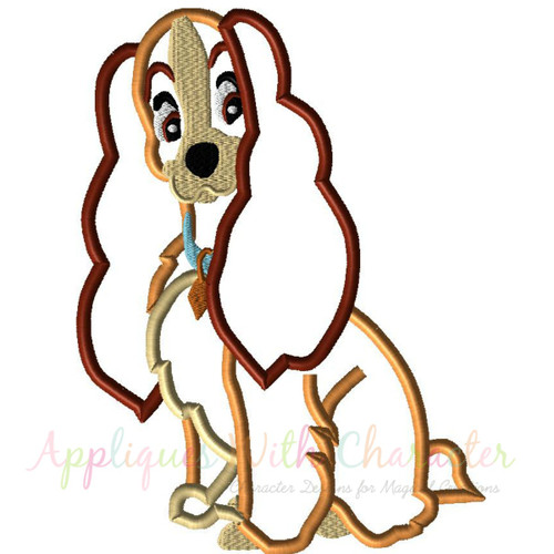 Lady Dog Applique Design