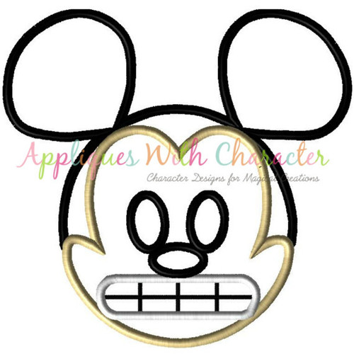 Mr Mouse Emoji Applique Design