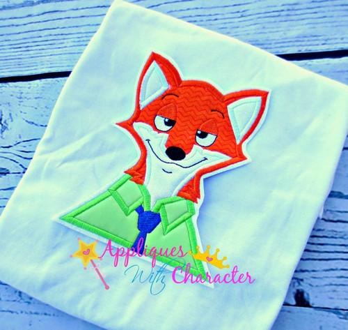 Zoo Fox Bust Applique