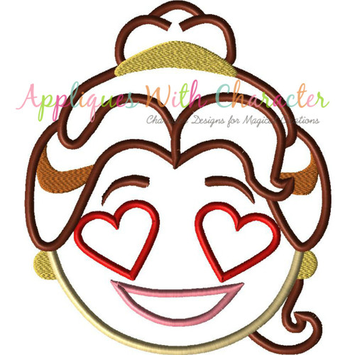Beauty Bella Emoji Applique Design