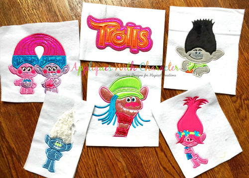 Trolls Applique Design Set