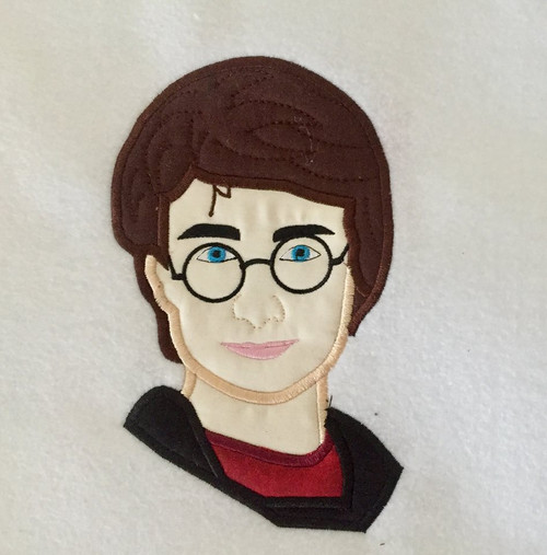 Harry Wizard Bust Applique Design