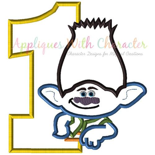 Troll Guy One Applique Design