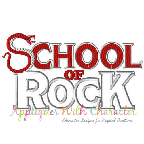 School Of Rockers Applique Design