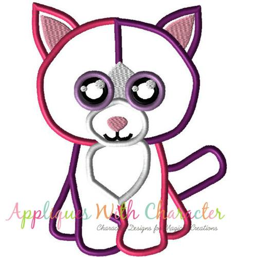 Beanie Pellie Cat Applique Design