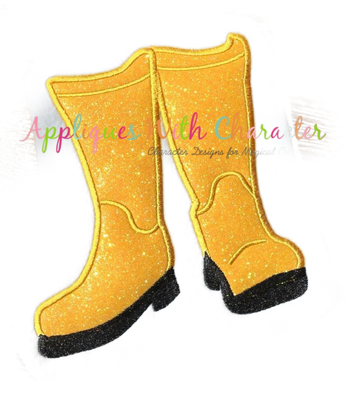 Cori Boots Applique Design