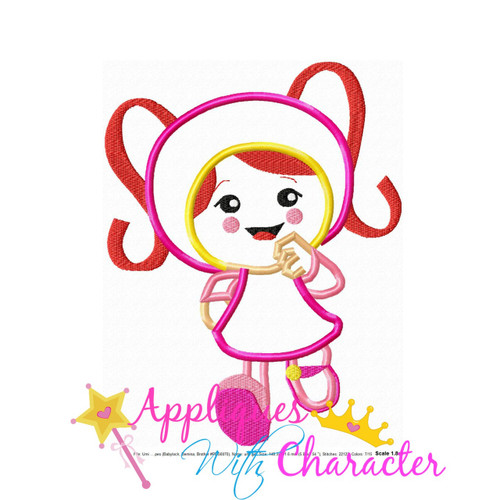 Umizoomi Girl Applique Design