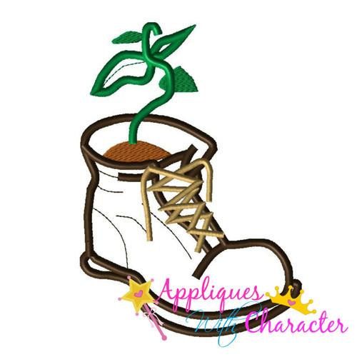 Wally Boot Applique Design