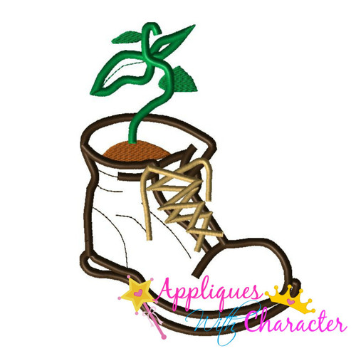 Wally Boot Applique Design