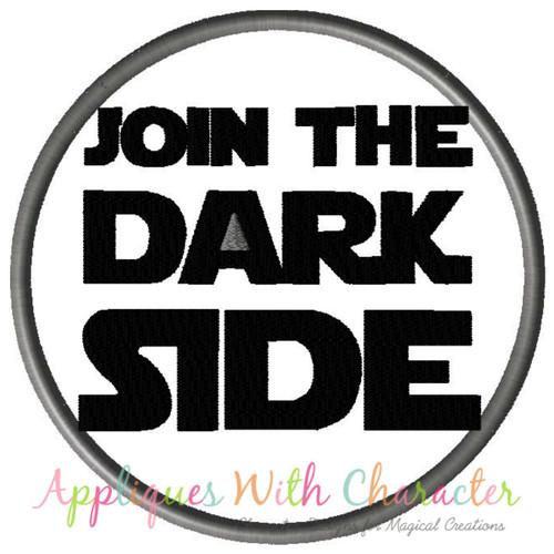 Star Battles Join The Dark Side Applique Design