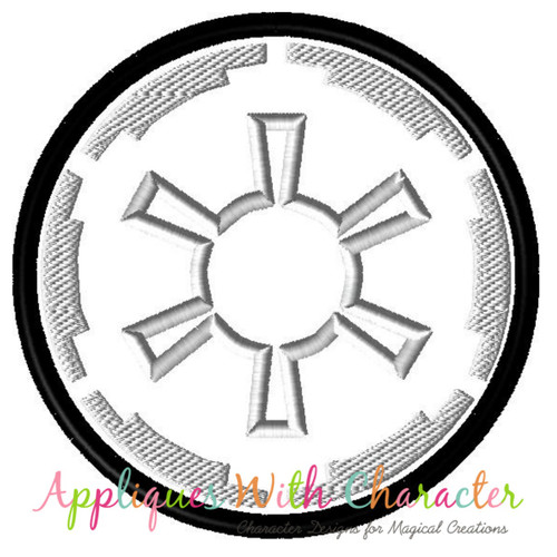 Star Battles Dark Side Logo Applique Design