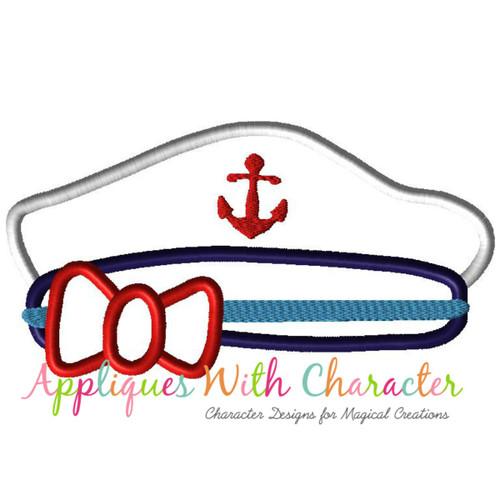 Cruise Hat Girl Applique Design